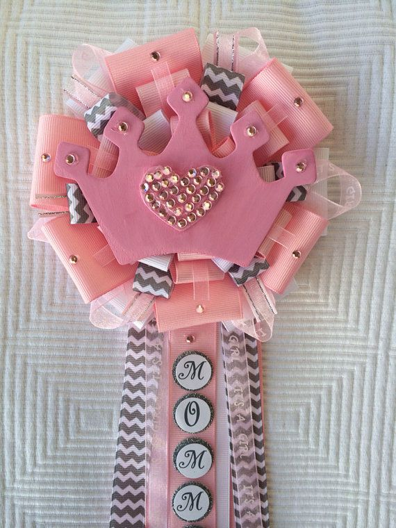 Little Princess Pink Baby Shower Corsage Pins on Etsy