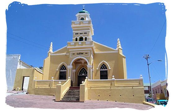 One of the 10 Mosques in the Bo Kaap (Old Malay quarter)  Religions in South Africa