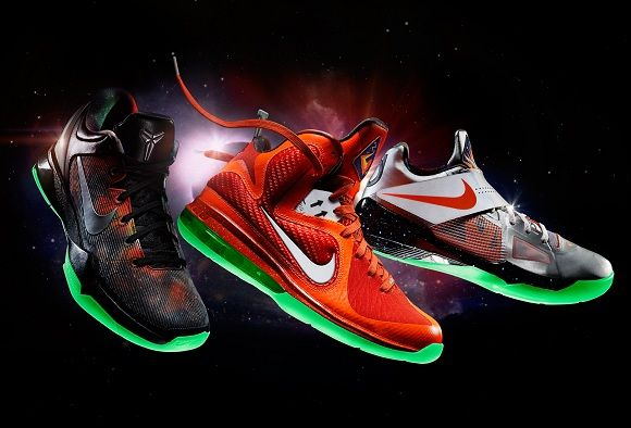 2012 nba all star pack!! in order... kobe 7, lebron 9, kd 4
