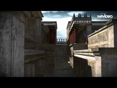 knossos palace, reconstruction 3d - YouTube