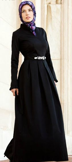 Sophia Hijab Gown. love a full skirt on a dress....the pleat details are very nice as well