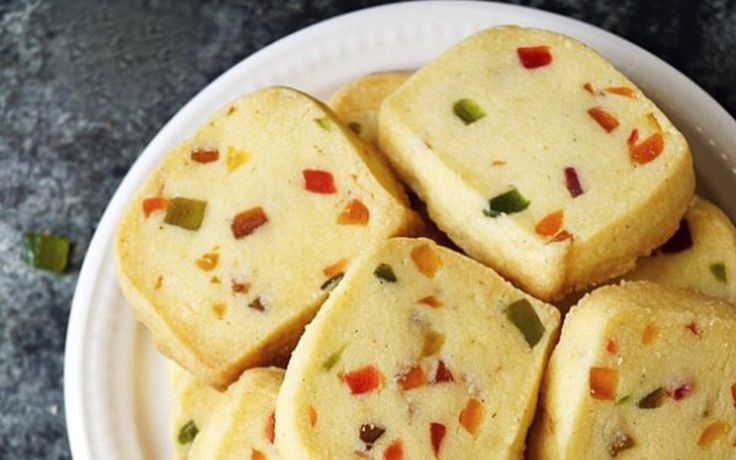 Karachi Fruit Biscuits [Vegan]. Karachi biscuits, also known as tutti fritti cookies, are popular Indian tea time cookies that get their name from the popular Karachi Bakery in Hyderabad, India. These biscuits are sweet, crumbly and melt in your mouth. Th