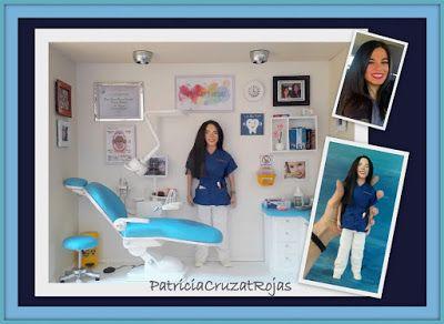 Patricia Cruzat Artesania y Color: Para una nueva Odontóloga un nuevo cuadro personalizado con miniaturas