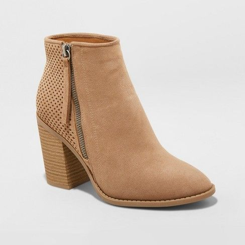fc7e566118e Women's Crissy Laser Cut Heeled Ankle Booties - Universal Thread ...