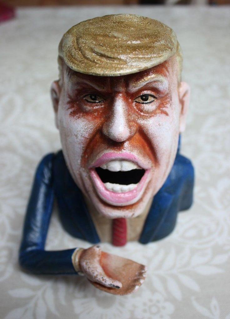 Details about Donald Trump cast iron money box | CAST IRON ...