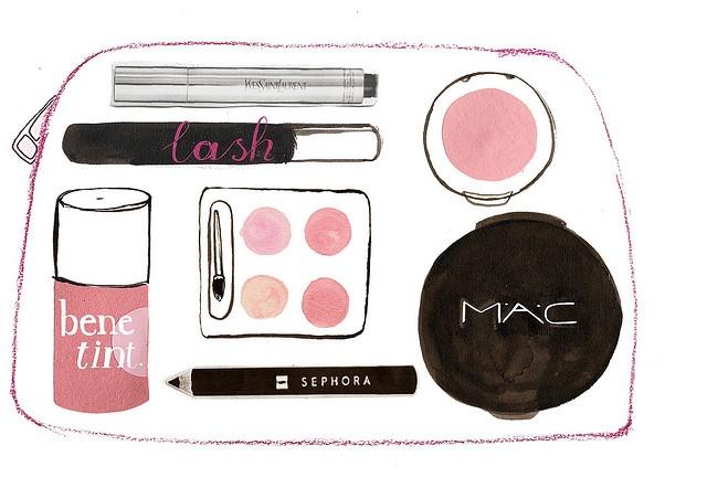Makeup Bag Watercolor