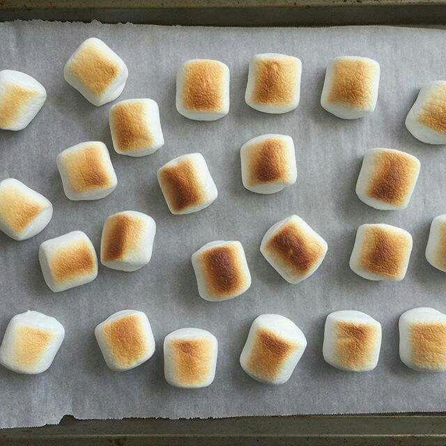 Marshmallows kann man auch im Backofen rösten? Muss ich unbedingt mal ausprobieren