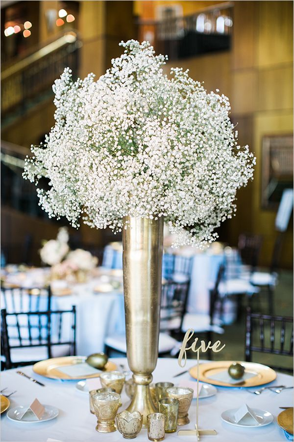 babys breath #centerpiece @weddingchicks