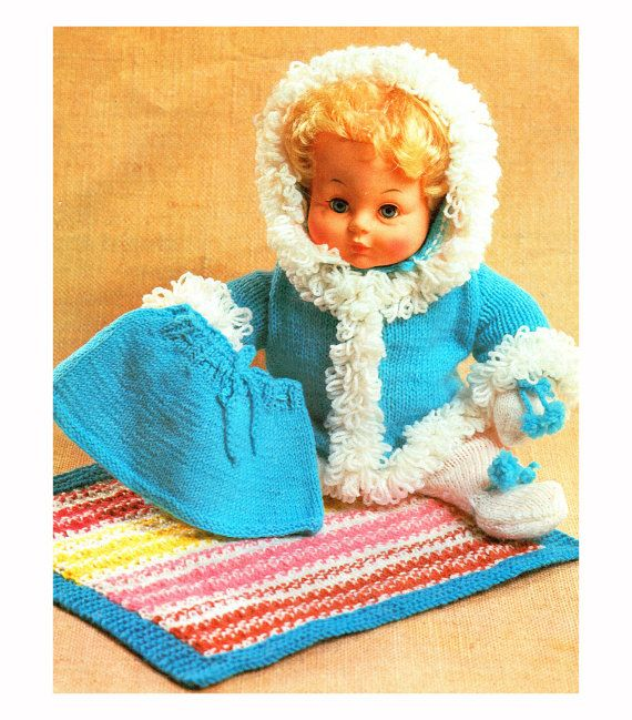PDF Vintage Baby Doll Clothes Knitting Pattern Premature Baby