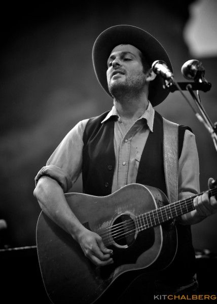Photography of Gregory Alan Isakov at Red Rocks AmpithreatreKit Chalberg Concerts