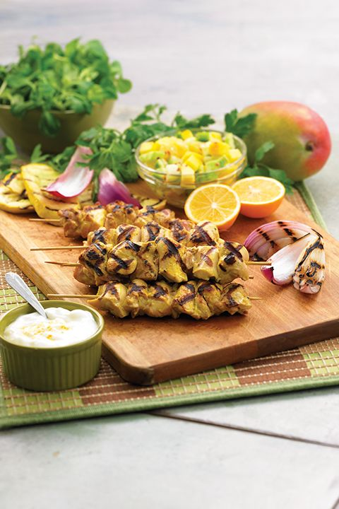 INGREDIENTS BY SAPUTO   Looking for a quick BBQ recipe idea that's simply irresistible? Try these easy yogurt-marinated grilled chicken skewers with mango!