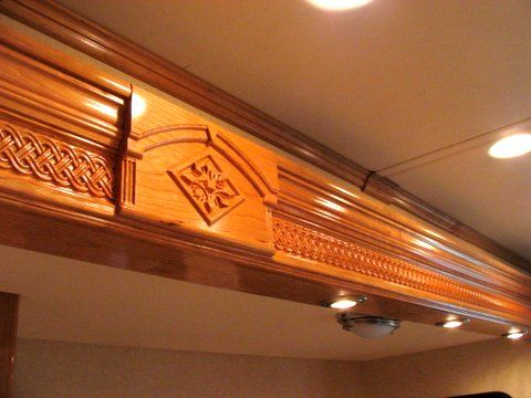 Charming Wood Carved Weave Trim   RV Interior | Carved Celtic, Gothic, And Weaves |  Pinterest | Rv Interior, Woods And Gothic House