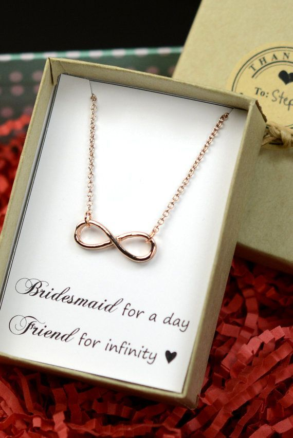 Personalized Necklaceinfinity Bracelet Lucky Cardbest Friendfriendship To Infinitybeach Wedding Giftsbridesmaid Gifts Wedding Jewelry