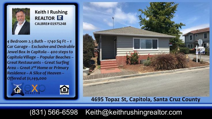 Home for sale 4 BR 2.5BA  with fireplace  Capitola CA 95010  https://gp1pro.com/USA/CA/Santa_Cruz/Capitola/Jewel_Box/4695_Topaz_St.html  This beautiful home sits on a corner lot in the desirable Jewel Box neighborhood just a few minutes from the Capitola Village, Beach, wharf, shops, great restaurants and all the conveniences of Capitola Mall. Enjoy the Capitola lifestyle where everyday feels like a vacation. Everything is a short walk or bike ride away. Spacious living area with fireplace…