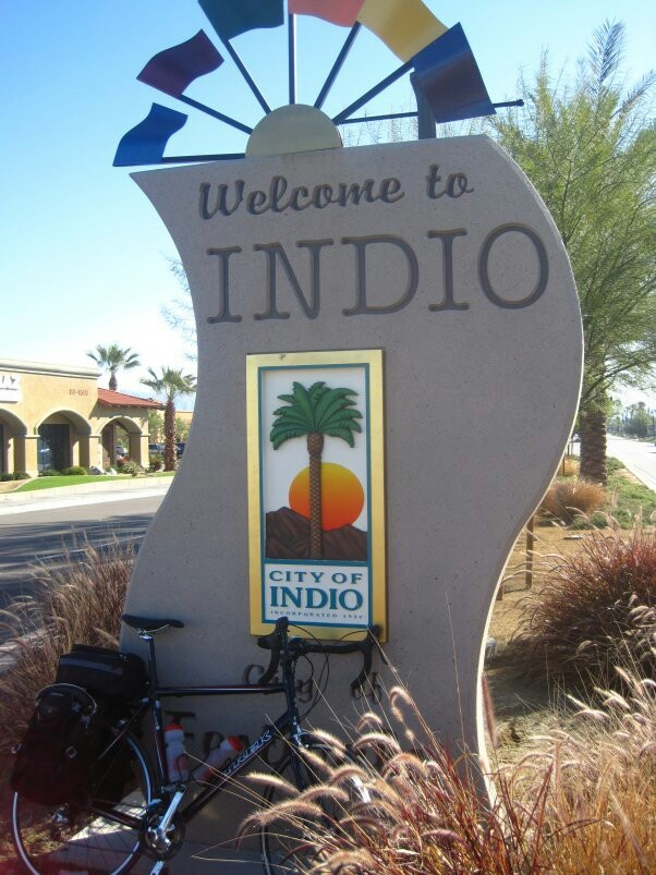 Indio California, where we celebrated moms 75th birthday. What an awesome week here with the family.