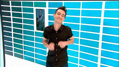 """(Gif) """"me walking away from my responsibilities"""" <– Truth be told *Brendan Urie Panic! At The Disco*"""