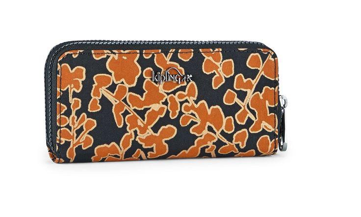 Kipling Uzario Basic Große Brieftasche Floral Metallic