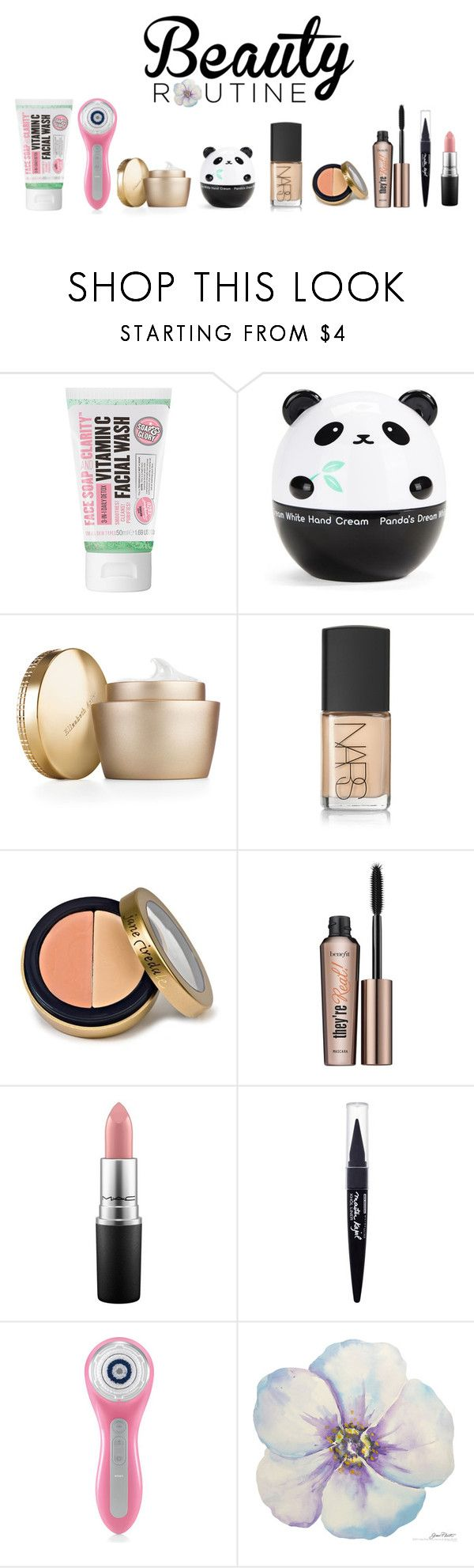 """""""What's Your Morning Beauty Routine?"""" by ice058 ❤ liked on Polyvore featuring beauty, Soap & Glory, Tony Moly, Elizabeth Arden, NARS Cosmetics, Jane Iredale, Benefit, MAC Cosmetics, Maybelline and Clarisonic"""
