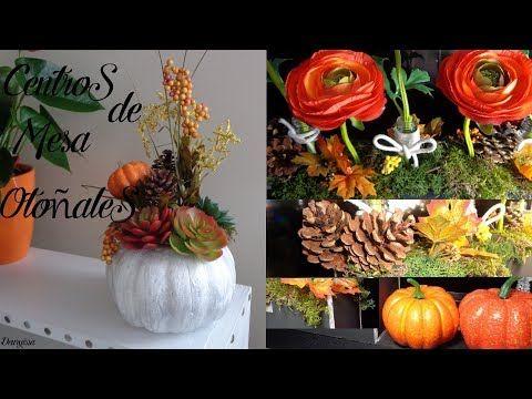 Arreglos florales, Centros de mesa otoñales / semana otoñal vídeo #4 - YouTube