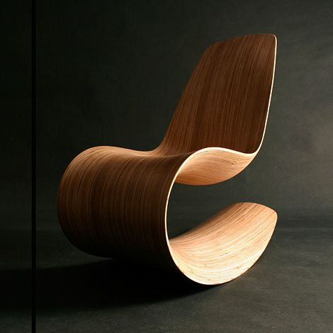 the savannah Rocker chair by Jolyon Yates
