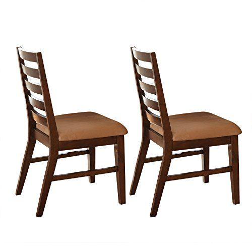 Steve Silver Eden Dining Side Chairs - Set of 2 - Dark Cherry