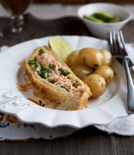 While our happy hens are exploring the playgrounds, why don't you discover the new tastes with this special Salmon En Croute recipe.