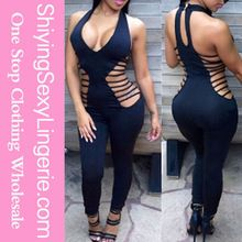 2015 Women Black Haute Straps Hollow Out Party Bodycon Jumpsuits Best Seller follow this link http://shopingayo.space