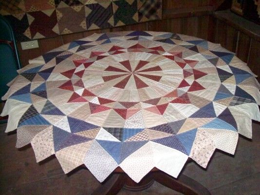 17 Best Images About Round Quilted Tablecloths On