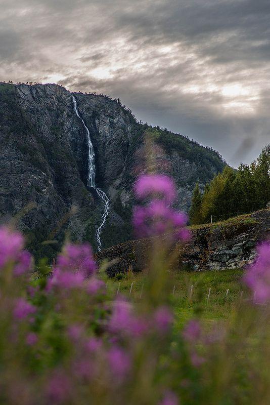 The long waterfall