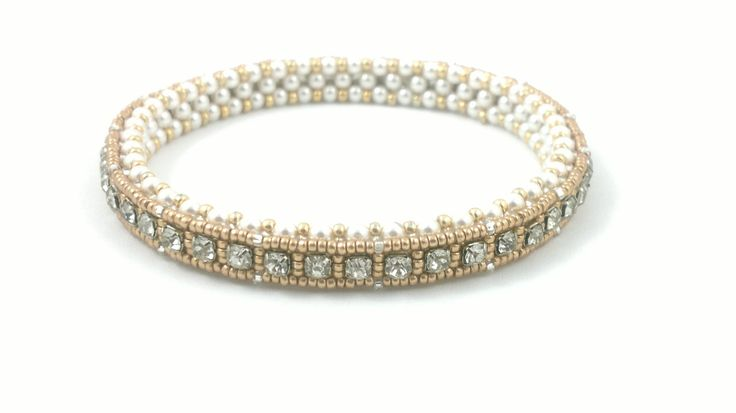 Beading4perfectionists   1920  39 s Art Deco style tennis bracelet  Cupchai