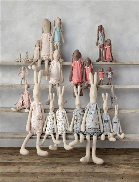 Stuffed danish designed bunnies! Find it now at CiaoBellaShop.com!
