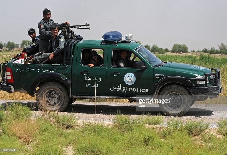 Afghan National Police (ANP) ride on a p Pictures | Getty Images