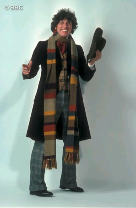 Tom Baker as the 4th Doctor :D. This is the scarf I am making!