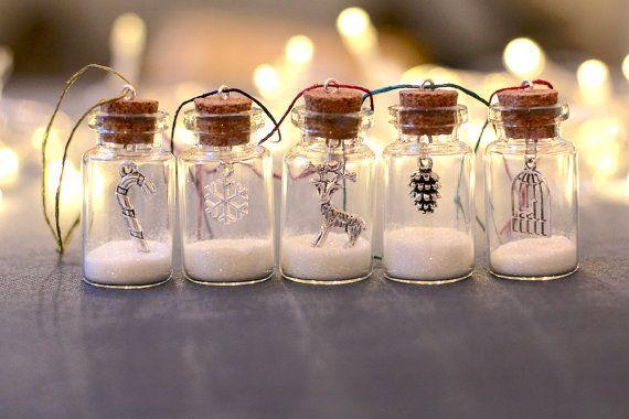 Kerstboom decoraties kerstboom ornamenten glitter flessen