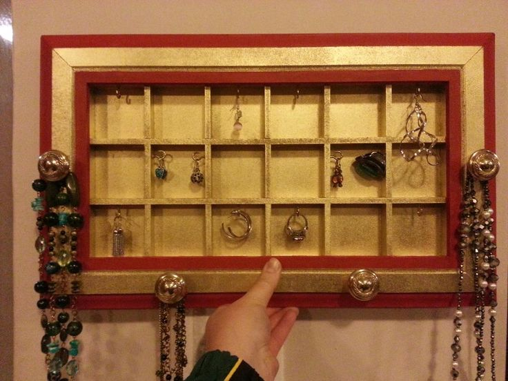 Red & gold jewellery organiser