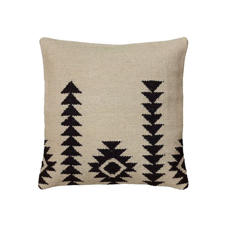 Rizzy Home White and Black Southwestern Throw Pillow, Multicolor