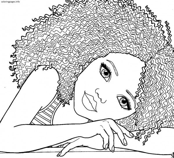 African American Girl Coloring Pages Pdf Free Printable Black For