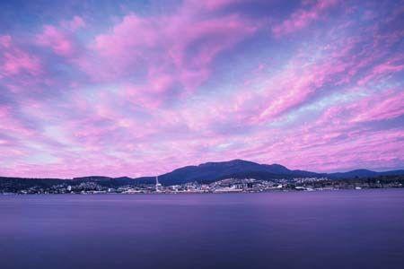 Hobart Sunset, #Tasmania #travel #Australia