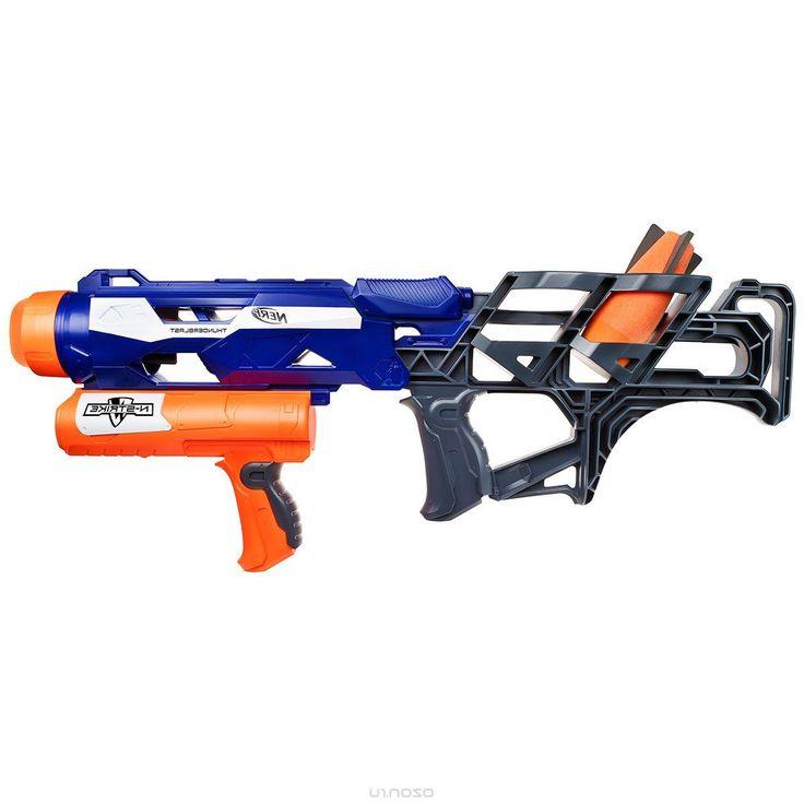 Бластер Nerf Ракетница, цвет: синий, оранжевый