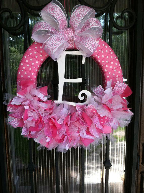 Baby Wreath Nursery Hospital Door Baby Shower by JoowaBean on Etsy