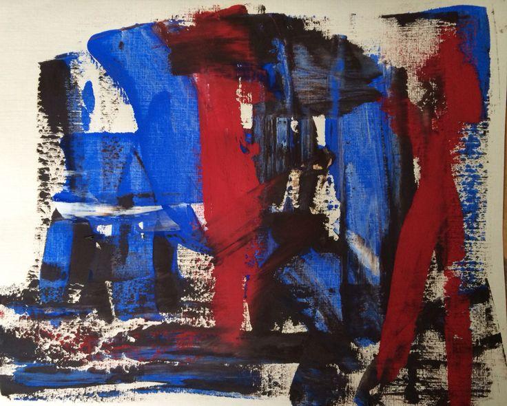 R.M. Oil on paper 2015. 30/35 cm.