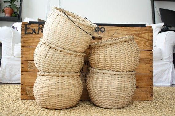 Large Bean Pot Basket with Handle