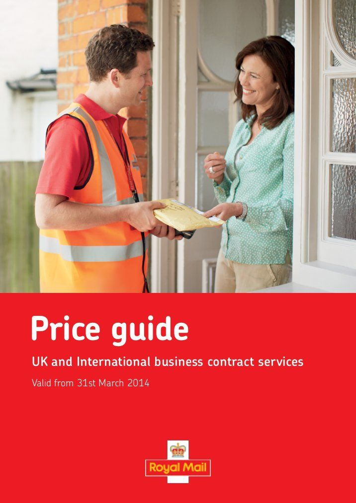 Business Contract Services Price Guide 2013 - Royal Mail chevin - business contract