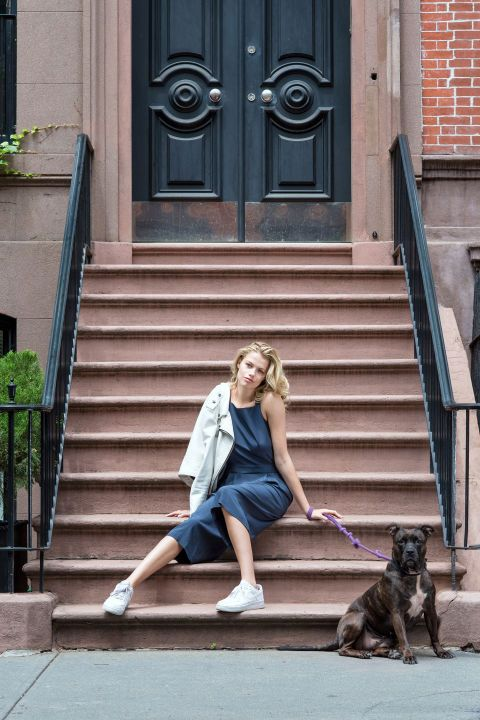 The original Cali girl and model shows her style in her West Village 'hood.