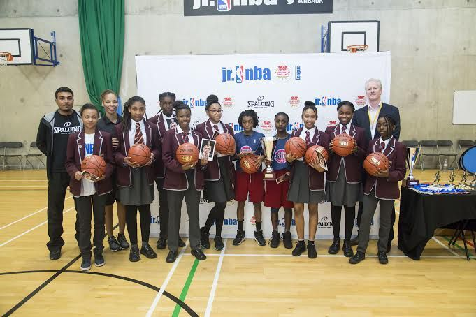 The second edition of the Jr. NBA Basketball England League ended yesterday at the Evelyn Grace Academy in Brixton with St. Bonaventure's and Harris Academy-South Norwood as part of Greenhouse Sports respectively emerging victorious in the co-ed and girls-only leagues. The two winning teams, represe