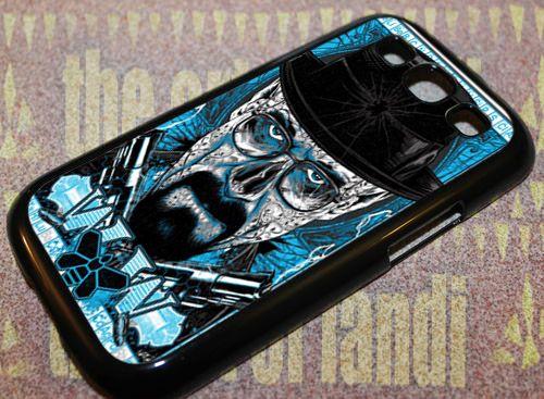 Breaking Bad Heisenberg For Samsung Galaxy S3 Black Rubber Case