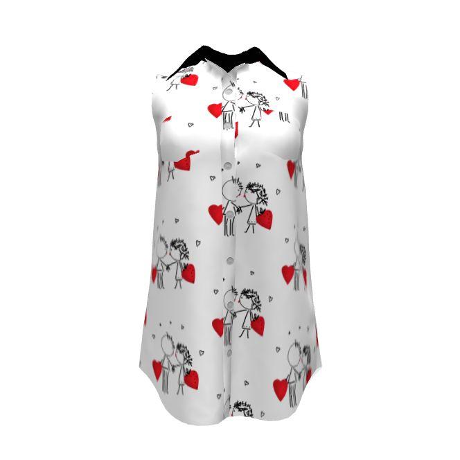 Grainline Студия ольха-рубашки сделаны с конструкциями ли spoonflower на модели прорастают. История любви