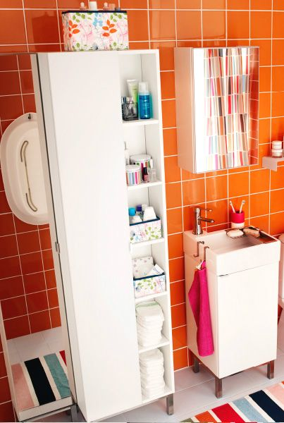 bathroom small space saver lillngen sink and high cabinets can help you make the most of