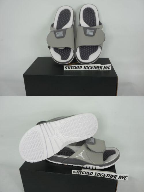 18dc6a8ae31f9c Sandals 11504  (Aa1336-004) Men S Air Jordan Hydro Xi Retro Medium Grey  White Gunsmoke -  BUY IT NOW ONLY   48 on  eBay  sandals  jordan  hydro   retro ...