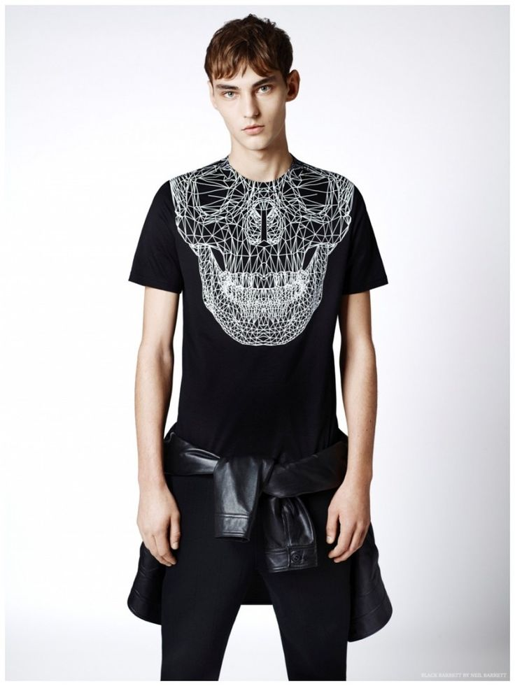 Black Barrett by Neil Barrett Showcases Graphic Black & White Fashions for Spring 2015 Collection